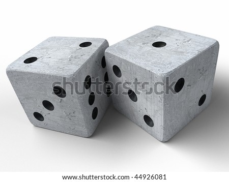 Two dices isolated