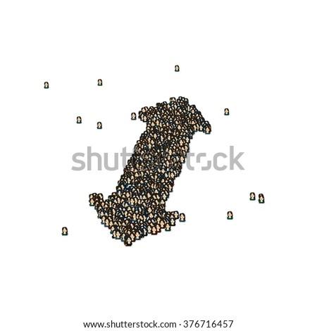 Two Direction Side Arrow Symbol Glyph Stock Illustration 376716457