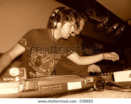 Two dj - stock photo