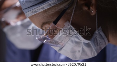 Two Doctors in the operation room - stock photo