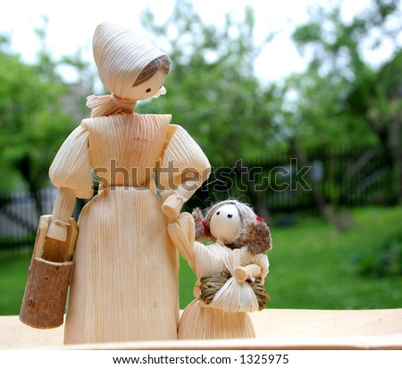two dolls - stock photo