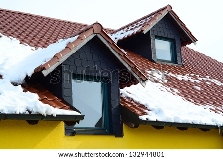 two dormers - stock photo