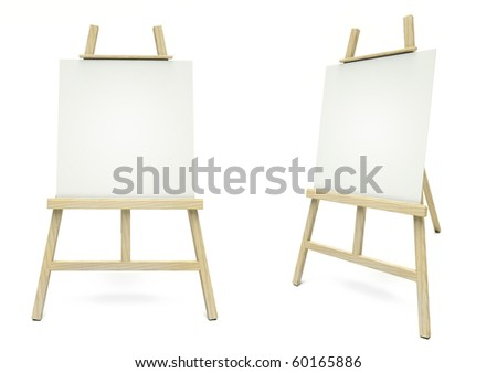 Two easel - stock photo