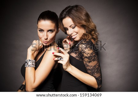 Two elegant party girls