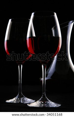 two ellegant glasses fith wines