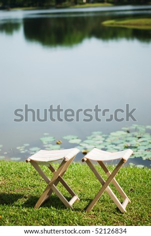 two empty chair - stock photo