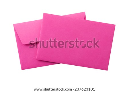 two envelopes isolated on white background