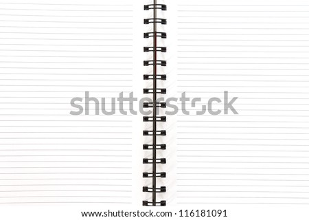 Two face open white notebook texture