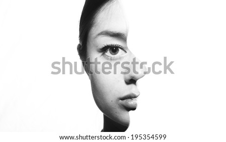 Two Faces - stock photo