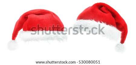 Two fancy santa hats