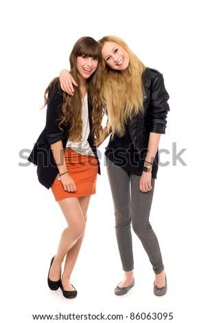 Two fashion women - stock photo