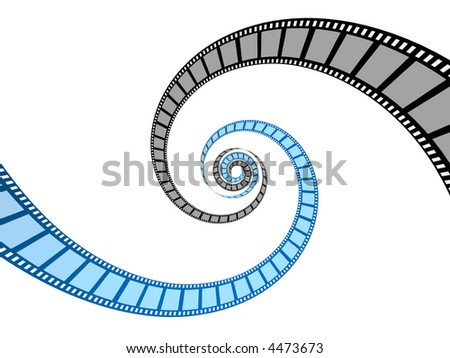 two films - stock photo