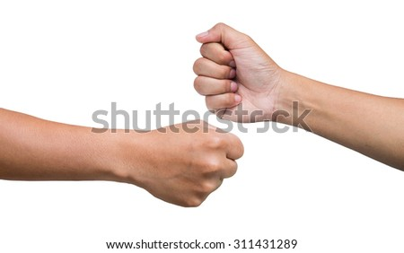 Two fists touching