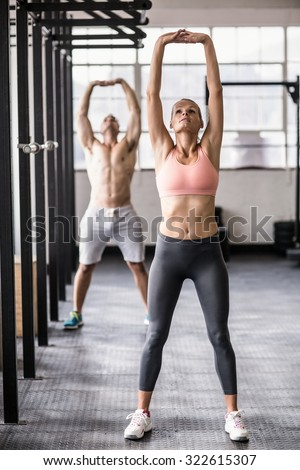 Two Fit People Doing Fitness Crossfit Stock Photo Royalty Free