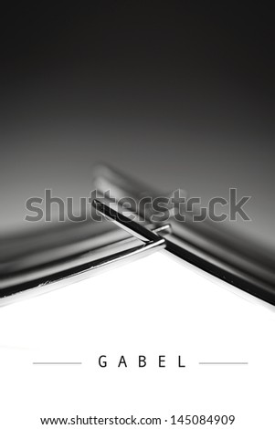 two forks - photographed from an abstracted point of view. (German edition) - stock photo