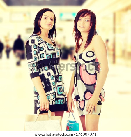 Two friend woman in Shopping Mall