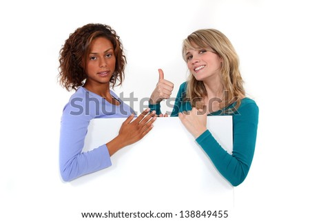 Two friends. - stock photo