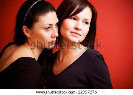 two friends - stock photo