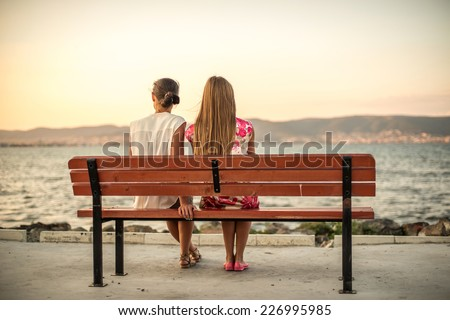 Girl Bench Sitting Stock Images Royalty Free Images