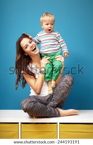 Two generations - stock photo
