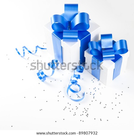 Two gift boxes - stock photo