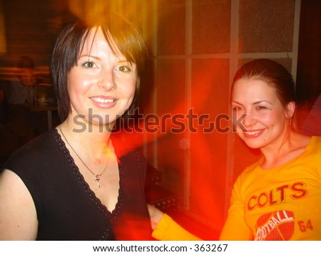 Two girls having fun - stock photo