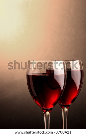 two glass of red wine details