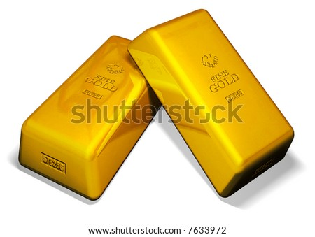 Two Gold Bars - stock photo