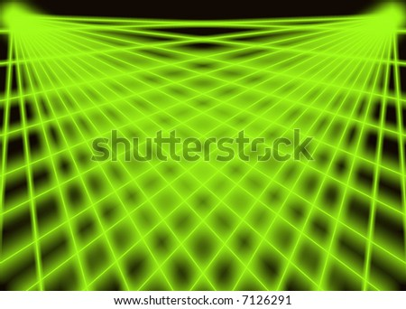 Two green laser. Use to background. - stock photo