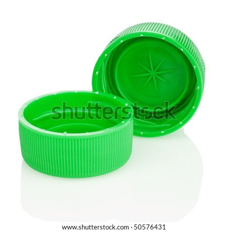 two green lid isolated - stock photo