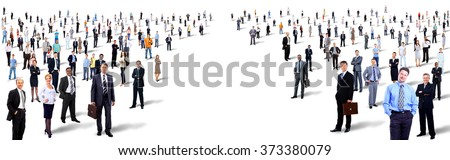 two groups of people - stock photo