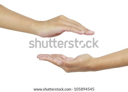 two hand - stock photo