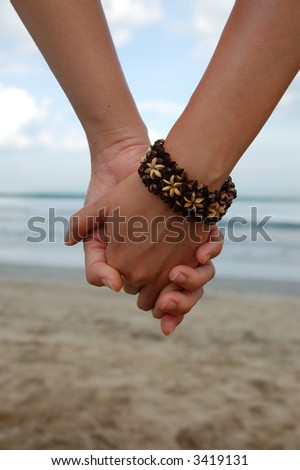 two hand holding together