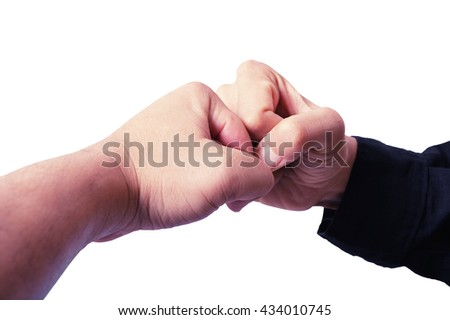 two hand punch - stock photo