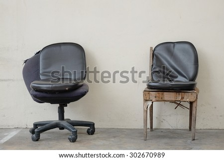 Two handicapped chairs - stock photo