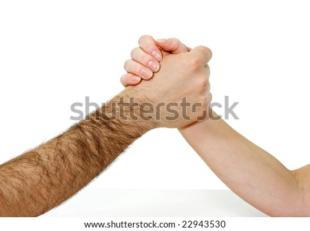 Two hands are joining to each other