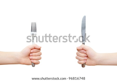 Hand Holding Fork Drawing Two Hands Holding Fork And