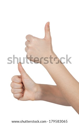 Two hands thumbs up