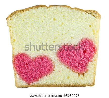 two heart in one butter cake