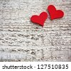 Two Hearts - stock photo