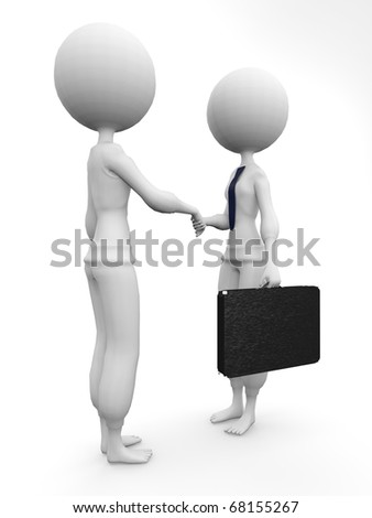 two humans give their hand for handshake