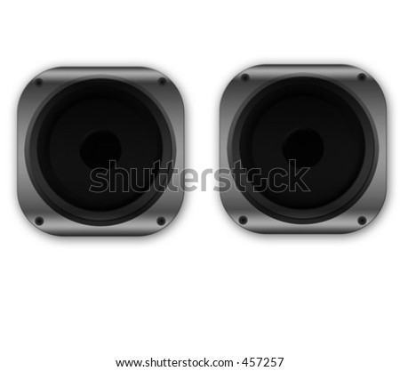two identical speakers for ease