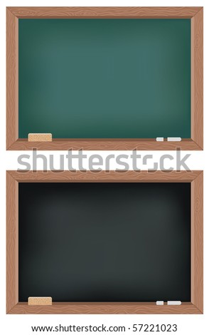 Two illustrations of blackboards - stock photo