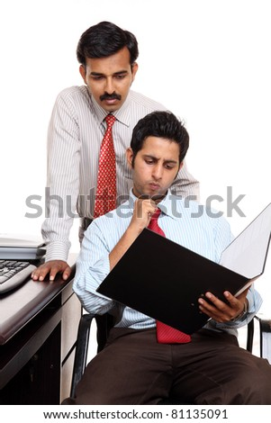 Two Indian businessman in the office - stock photo