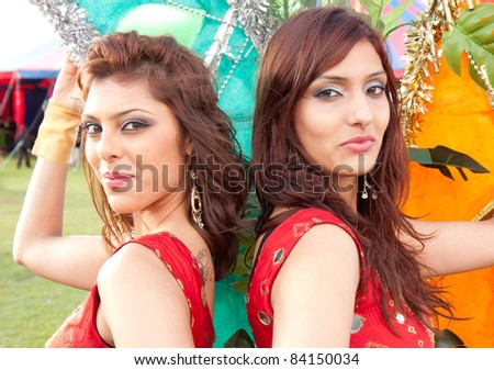 Two Indian Dancers - stock photo