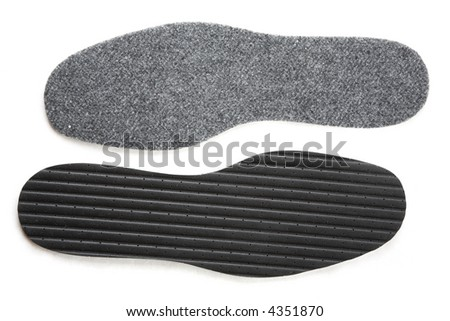 two inner soles isolated on the white background
