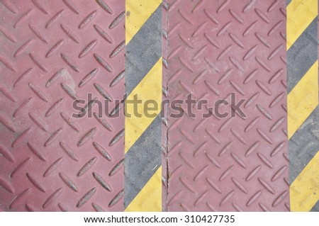 Two iron step is background - stock photo