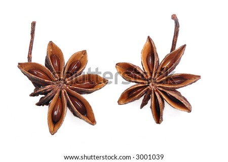two isolated anise stars