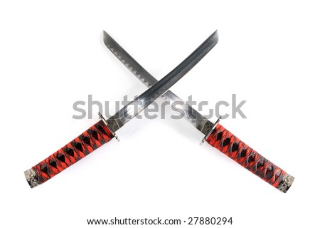 two japanese Katana - stock photo