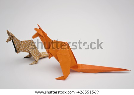 Two kangaroos origami